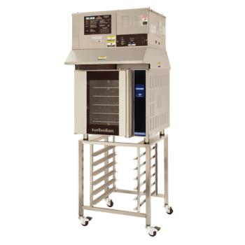 MOFE32T5TSK32OVH32D - Moffat - E32T5-T/OVH32/SK32 - 220V 5-Full-Pan Convection Oven w/ Stand & Hood Product Image