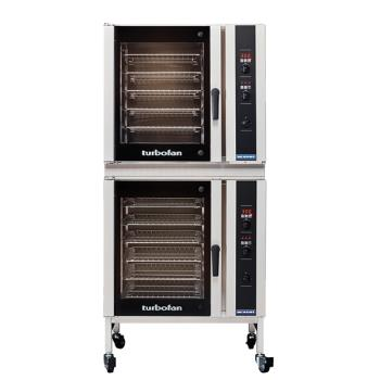 MOFE35D626T12C - Moffat - E35D6-26-T-1/2C - 220V/1ph Double 6-Full-Pan Convection Oven w/ Casters Product Image