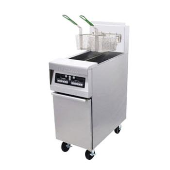 FRYMJ45SD - Frymaster - MJ45-SD - 50 lb Stainless and Enamel Gas Fryer Product Image