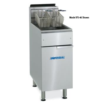IMPIFS2525 - Imperial - IFS-2525 - Elite 25 Lb Split Pot Commercial Gas Fryer Product Image