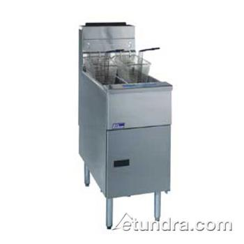 PITSG14TSC - Pitco - SG14TS-C - Solstice Twin 25 Lb High Production Gas Fryer w/ Computer Controller Product Image
