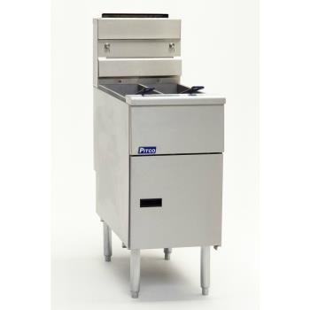 PITSG14TSC - Pitco - SG14TS-C - Solstice Twin 25 Lb High Production Gas Fryer Product Image