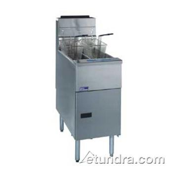 PITSG14TSSSTC - Pitco - SG14TS-SSTC - Solstice Twin 25 Lb High Production Gas Fryer w/ Solid State Controller Product Image