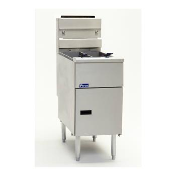 PITSG14TSSSTC - Pitco - SG14TS-SSTC - Solstice Twin 25 Lb High Production Gas Fryer Product Image