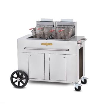 CROPF2 - Crown Verity - CV-PF-2 - Portable Outdoor Fryer w/ Double Tank Product Image