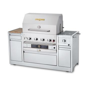 CROCVMBI30ING - Crown Verity - CV-MBI-30I-NG - 30 in Natural Gas Hotel Series Grill Island Product Image