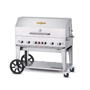 CROMCB48LPRD48 - Crown Verity - CV-MCB-48RDP-LP - 48 in Mobile Liquid Propane Outdoor Charbroiler Product Image