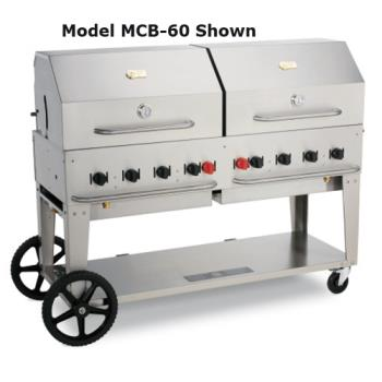 CROMCB72LPRD36722 - Crown Verity - CV-MCB-72-LP/RD-36 - 72 in Mobile Liquid Propane Outdoor Charbroiler With Roll Domes Product Image
