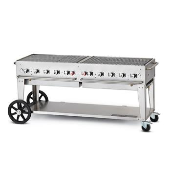 CROMCB72NG - Crown Verity - CV-MCB-72NG - Mobile 72 in Natural Gas Charbroiler Product Image