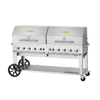 CROCVMCB72RDPNG - Crown Verity - CV-MCB-72RDP-NG - 70 in X 21 in Outdoor Natural Gas Charbroiler Product Image