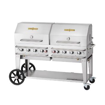 CROCVRCB60RDPSIBULK - Crown Verity - CV-RCB-60RDP-SI-BULK - 60 in Pro Series LP Outdoor Grill W/ Roll Domes Product Image
