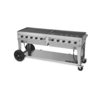 CRORCB72 - Crown Verity - CV-RCB-72 - 72 in Double Inlet Outdoor Charbroiler Product Image