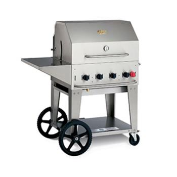 CROMCB36PKGNG - Crown Verity - MCB-36PKG-NG - Mobile 36 in Natural Gas Charbroiler With Accessories Product Image