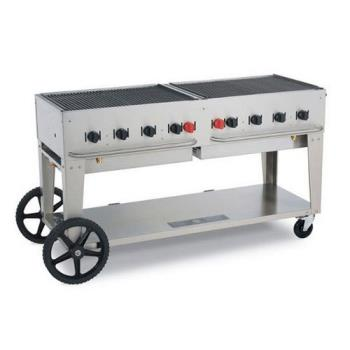 CROMCB60LP - Crown Verity - MCB-60-LP - Mobile 60 in Liquid Propane Charbroiler Product Image