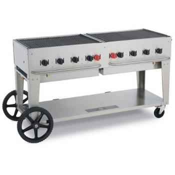 CROMCB72LP - Crown Verity - MCB-72-LP - Mobile 72 in Liquid Propane Charbroiler Product Image