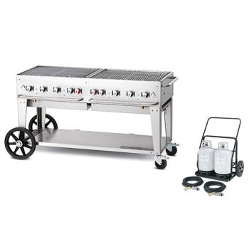 CROMCC60 - Crown Verity - MCC-60 - Mobile 60 in Charbroiler With Tank Cart Product Image
