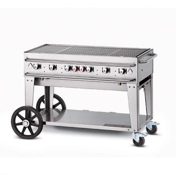 CRORCB48SI - Crown Verity - RCB-48-SI - 48 in Single Inlet Outdoor Charbroiler Product Image