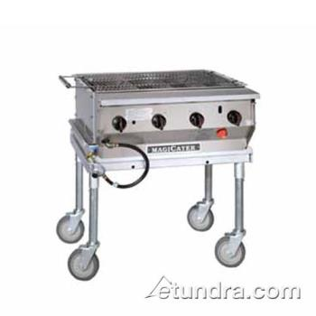 MAGLPG30SS - MagiKitch'n - LPG-30-SS - 30 in Magicater Stainless Steel Portable Outdoor Liquid Propane Charbroiler Product Image