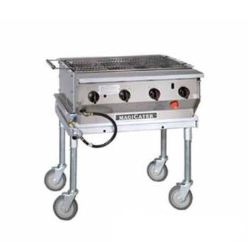MAGLPG30SS - MagiKitch'n - LPG-30-SS - 30 in Magicater S/S Portable Outdoor LP Charbroiler Product Image