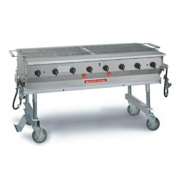 "MAGMCSS60 - MagiKitch'n - MCSS-60 - 60"" Magicater Stainless Steel Portable Outdoor LP Grill Product Image"