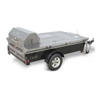 CROTG4 - Crown Verity - TG-4 - 48 in Towable Charbroiler With 2 Compartments & Sink Product Image