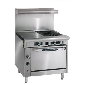 IMPIHR21HT - Imperial - IHR-2-1HT - 36 in 2-Burner Diamond Series Gas Range w/ Hot Top and Standard Oven Product Image