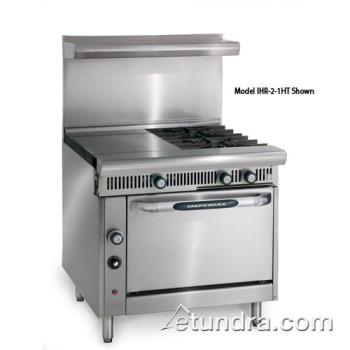 "IMPIHR21HTC - Imperial - IHR-2-1HT-C - Diamond Series 36"" Range w/ 2 Burners, 18"" Hot Top & Convection Oven Product Image"