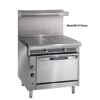 IMPIHR2FTC - Imperial - IHR-2FT-C - 36 in 2 French Top Diamond Series Gas Range w/ Convection Oven Product Image