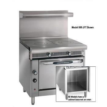 IMPIHR2FTXB - Imperial - IHR-2FT-XB - 36 in 2 French Top Diamond Series Gas Range w/ Cabinet Base Product Image