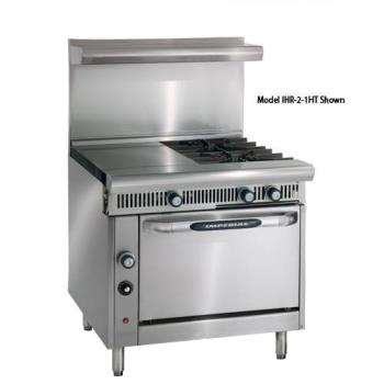 IMPIHR2HT2C - Imperial - IHR-2HT-2-C Diamond 2 Heat Hot Tops w/ 2 Burners, Convection Oven Product Image