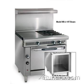 "IMPIHR3HT3XB - Imperial - IHR-3HT-3-XB - Diamond Series 36"" Range w/ 3 Burners, 3 Hot Tops & Cabinet Product Image"