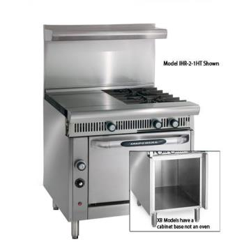 IMPIHR41HTXB - Imperial - IHR-4-1HT-XB - 36 in 4-Burner Diamond Series Gas Range w/ Hot Top and Cabinet Base Product Image