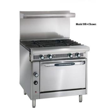 IMPIHR4C - Imperial - IHR-4-C - 36 in 4-Burner Diamond Series Gas Range w/ Convection Oven Product Image
