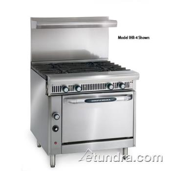 "IMPIHR4C - Imperial - IHR-4-C - Diamond Series 36"" Range w/ 4 Burners & Convection Oven Product Image"