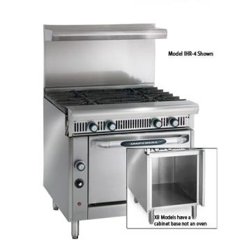 IMPIHR4XB - Imperial - IHR-4-XB - 36 in 4-Burner Diamond Series Gas Range w/ Cabinet Base Product Image