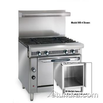 "IMPIHR4XB - Imperial - IHR-4-XB - Diamond Series 36"" Range w/ 4 Burners & Storage Base Product Image"