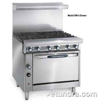 "IMPIHR6C - Imperial - IHR-6-C - Diamond Series 36"" Range w/ 6 Burners & Convection Oven Product Image"