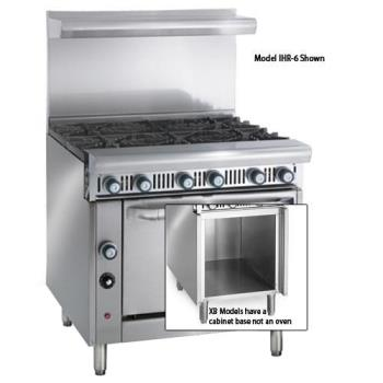 IMPIHR6XB - Imperial - IHR-6-XB - 36 in 6-Burner Diamond Series Gas Range w/ Cabinet Base Product Image
