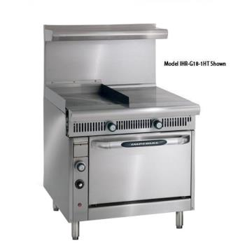 IMPIHRG181HTC - Imperial - IHR-G18-1HT-C - 36 in Diamond Series Gas Range w/ Hot Top, Griddle and Convenction Oven Product Image