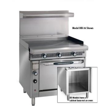 IMPIHRG36XB - Imperial - IHR-G36-XB - 36 in Diamond Series Gas Range w/ Manual Griddle and Cabinet Base Product Image
