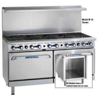 IMPIR10XB - Imperial - IR-10-XB - 60 in 10-Burner Gas Range w/ Standard Oven and Cabinet Base Product Image