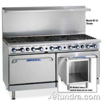 "IMPIR12XB - Imperial - IR-12-XB - 72"" Range w/ 12 Burners, Standard Oven & Cabinet Product Image"