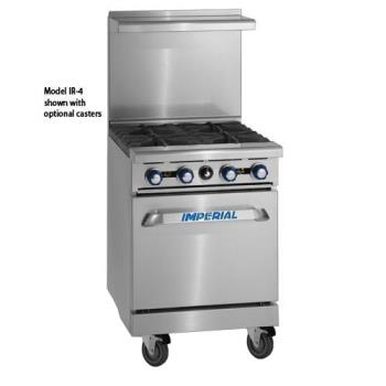 IMPIR2G12 - Imperial - IR-2-G12 - 24 in 2-Burner Gas Range w/ Griddle and Standard Oven Product Image