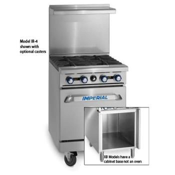 IMPIR2G12XB - Imperial - IR-2-G12-XB - 24 in 2-Burner Gas Range w/ Griddle and Cabinet Base Product Image