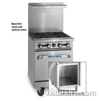 "IMPIR2G12XB - Imperial - IR-2-G12-XB - 24"" Range w/ 2 Burners,  12"" Griddle & Cabinet Product Image"