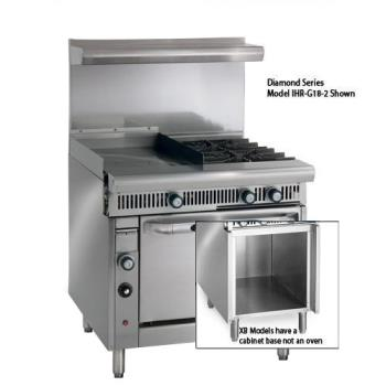 IMPIR2G24XB - Imperial - IR-2-G24-XB - 36 in 2-Burner Gas Range w/ Griddle and Cabinet Base Product Image