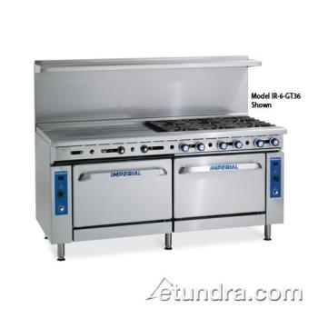 "IMPIR2G60CC - Imperial - IR-2-G60-CC - 72"" Range w/ 2 Burners, 60"" Griddle & 2 Convection Ovens Product Image"