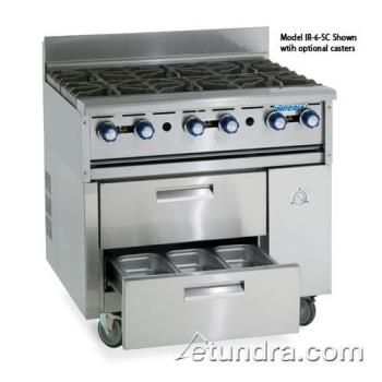 "IMPIR36ABRSC - Imperial - IR-36ABR-SC - 36"" Sizzle 'N Chill w/ Charbroiler Top Product Image"