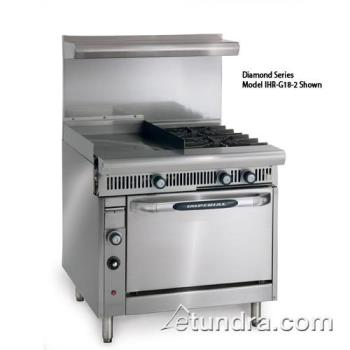 "IMPIR4G12 - Imperial - IR-4-G12 - 36"" Range w/ 4 Burners, 12"" Griddle & Standard Oven Product Image"