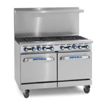 IMPIR4G24 - Imperial - IR-4-G24 - 48 in Range With 4 Burners, Griddle and 2 Standard Ovens Product Image